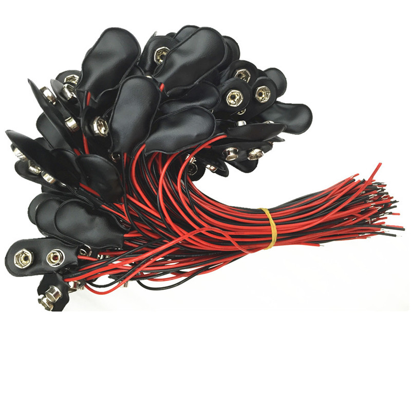 10pcs 9V Battery Snap Connector Clip Lead Wires Holder I Type