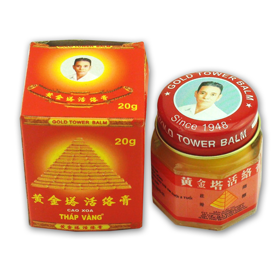 2Pcs 100% Original Vietnam Gold Tower Balm Ointment Pain Relieve Patch Massage Relaxation Arthritis White Tiger Balm D0170