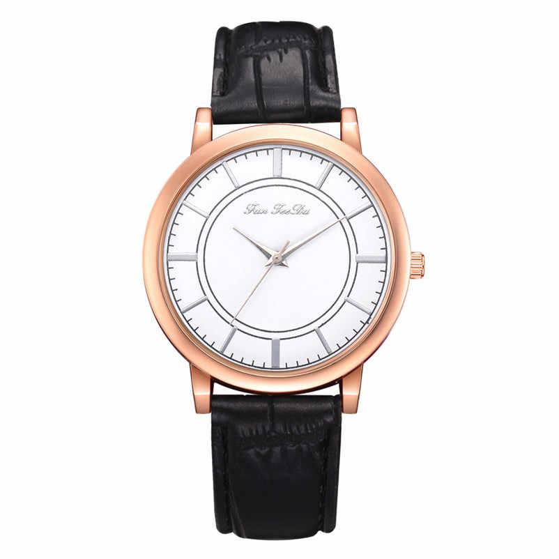 2019 haute qualité femmes montre décontractée à la mode de luxe robe dames analogique Quartz cuir bandes montre-bracelet horloge Relogio Y11