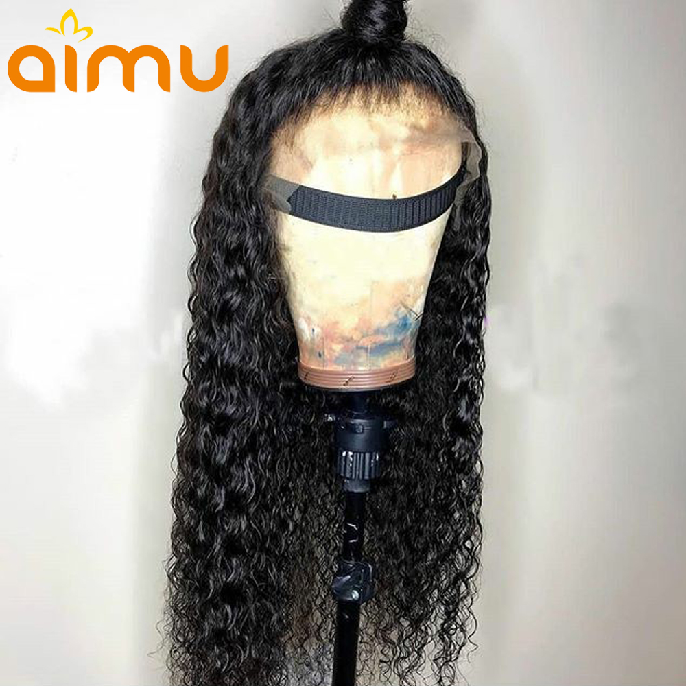 Raw Indian Hair Wet And Wavy Kinky Curly Wig Deep Wave Preplucked 360 Lace Frontal Human