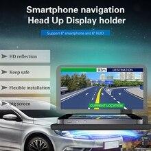 Suporte de Navegação GPS Do Telefone Móvel Universal HUD Cabeça Up Display Para Montar Titular Suporte Do Telefone Do Carro Do Telefone Inteligente Seguro de Adsorção
