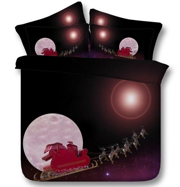 Lenzuola Matrimoniali Di Natale.Luna E Stelle Di Natale Set Biancheria Da Letto Comforter Set