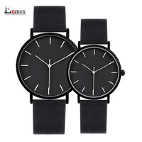 2017 Enmex Cool Style Lover S Wristwatch Brief Vogue Simple Stylish Black And White Face Couple
