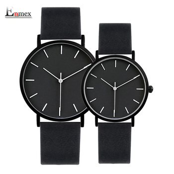 2017 Enmex cool style lover's wristwatch Brief vogue simple stylish Black and white face couple watch quartz clock fashion watch