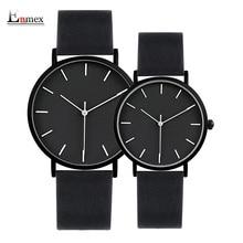 2017 ENMEX превосходный стиль Любителя наручные часы краткое vogue простой стильный черный и белый лицо пару часов кварцевые часы Мода часы