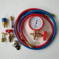 Car air conditioner plus snow freon tool kit R134a refrigerant adapter valve hose kit universal