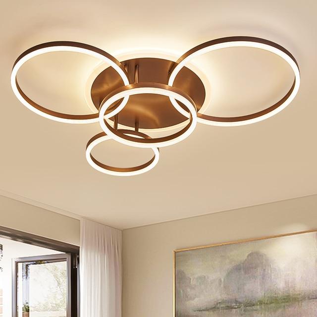 Brown/white Modern Led Ceiling Lights For Living Room Bedroom Plafon Inddor Home Lighting Ceiling Lamp Home Lighting Fixtures