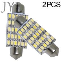 2 шт гирлянда купольная лампочка 42 мм 30smd 3020 Светодиодный светильник для салона автомобиля яркий белый/теплый белый
