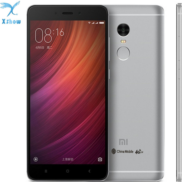 """100% Оригинальный Xiaomi Redmi Note 4 MTK helio X20 3 ГБ Оперативная память Дека Core 5.5 """"1080 P Miui 8 Отпечатков пальцев ID note4 мобильного телефона"""