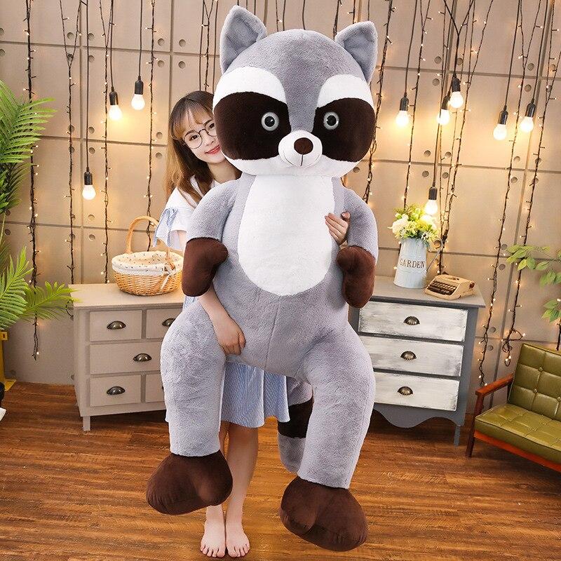 95 cm énorme taille doux chat en peluche gros calin oreiller mignon raton laveur chat en peluche jouets enfants enfants cadeaux saint valentin cadeau - 2