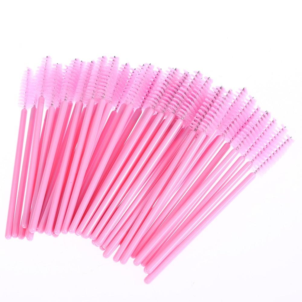 100 Pcs Disposable Eyelash Brush Mascara Wands Applicator Spoolers Eye Lashes Cosmetic Brushes Set Make up Brushes tools