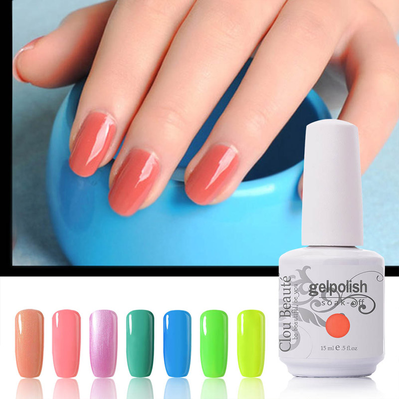Hot Gel de Colorare Culoare 220 Culori 15ml / Pcs Clou Beaute Nails Soak Off Lac de Gel UV Seturi de Lacuri Unghii cu Lampă UV Gel Polish