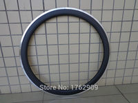 1Pcs New 700C 50mm clincher rims Road bicycle matte 12K carbon fibre with alloy brake surface bike wheelsets rim Free shipping
