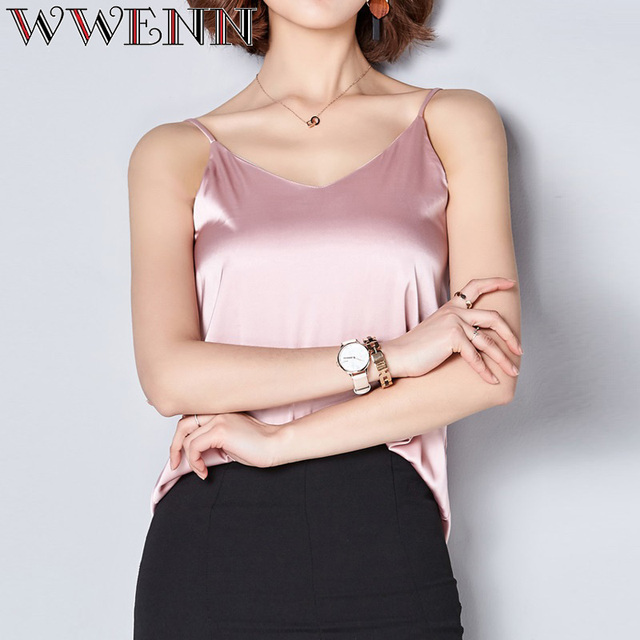 High Quality Spring Summer Casual 7 Colors Shirt Sleeveless Blouse Women Blusas 2
