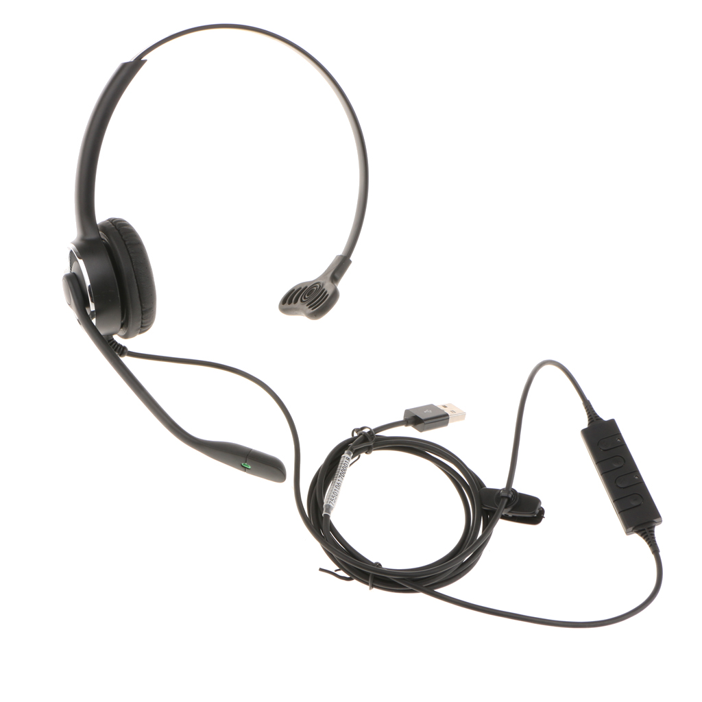 USB Call Center Telephone Headset With Microphone For Landline Office Phones new rj11 headset with microphone adjustable metal headband telephone noise reduction headphone for office call center