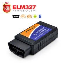 Последним ELM327 OBD2 Bluetooth V2.1 Интерфейс Работает На Android Torque Elm 327 Bluetooth OBD2/OBD II Автомобиля Диагностический Сканер