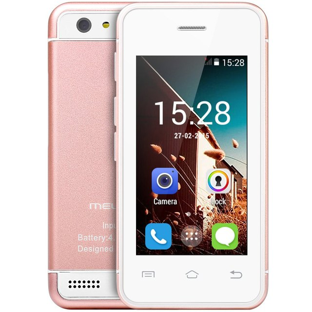 Melrose S9 Smallest Android Phone 3G WIFI Ultra Slim Mini I6 Mobile Phone MTK6572 Dual Core Card Phone 4GB 16GB ROM Free Case