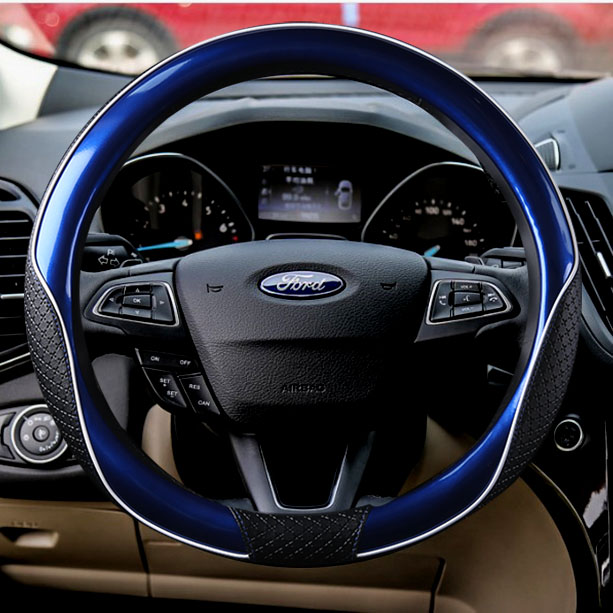38cm Auto Car Steering Wheel Cover Case for Ford Fiesta Mondeo Furus Nissan Honda Volkswagen BMW GM Chevrolet Red Blue Black universal 38cm pu leather car steering wheel cover for ford focus 2 3 bmw e46 e39 volkswagen toyota chevrolet cruze opel