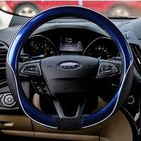 38cm Auto Car Steering Wheel Cover Case for Ford Fiesta Mondeo Furus Nissan Honda Volkswagen BMW GM Chevrolet Red Blue Black