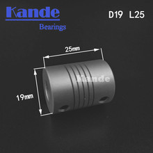 Kande Bearings 1pc Aluminium CNC shaft flexible coupler 3D printer 4 5 6 7 8 6.35mm D19L25 Miniature electric motor couplings(China)