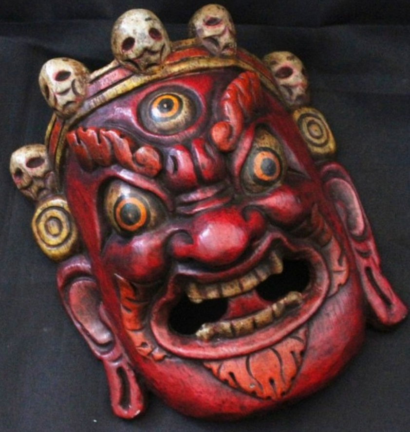 Tibetan Wooden Handicrafts,home Decor Mask Arts,folk Arts