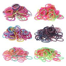 100 Pcs/pack Children Kids Head Rope Girls Baby Hair-ring Hair Rubber Band Color Headdress New
