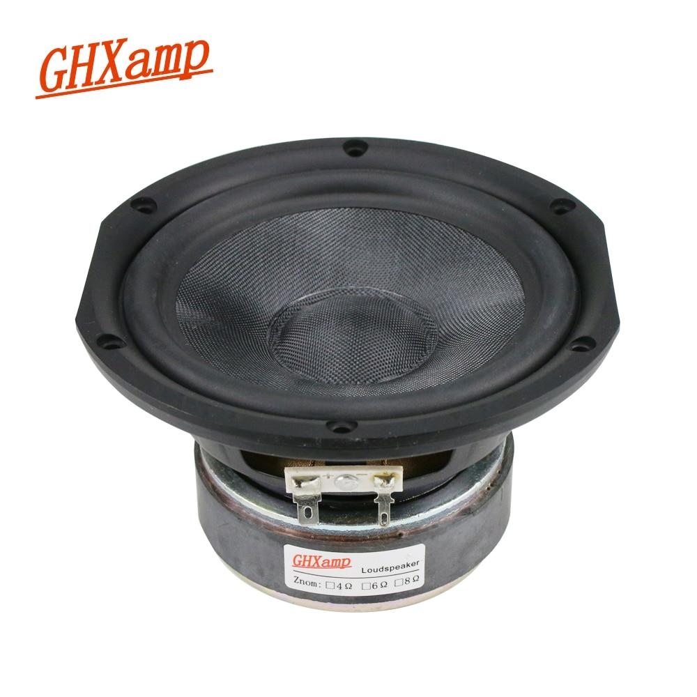 GHXAMP 5.25 inch Mid-Bass Speaker Unit 4ohm 80W Fiberglass Woven Basin 145mm Mediant Woofer Loudspeaker For Monitor Speakers 1pc ghxamp 3 inch 4ohm 30w midrange speaker car speaker mid human voice sound good loudspeaker for lg diy 2pcs
