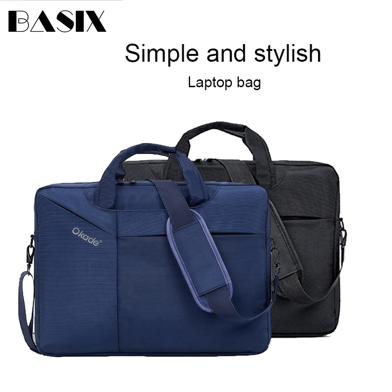 Basix Laptop Bag 14.4 15.6 Inch Waterproof Notebook Bag For Macbook Air Pro 14 15 Computer Shoulder Handbag Briefcase Bag