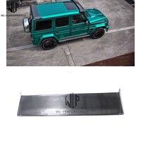 G sınıfı karbon Fiber arka çatı/üst Spoiler arka bagaj kanat araç gövde kiti Mercedes Benz için W463 04 17 araba styling kullanımı|Rüzgarlık ve Kanatlar|   -