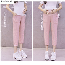 Get more info on the Maternity Pants Clothes For Pregnant Women Trouser Summer Nursing Belly Leggings Ice Silk Linen Elastic Pregnancy Clothing E0042