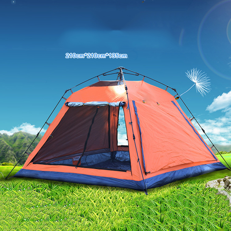 Wnnideo New 3-4 Person Automatic Tent Outdoor Camping Hiking Mountaineering Traveling Multi-functional Tent Portable ZS6-608 professional camping gear 2 people outdoor 4 reason camping tent hiking climbing backpacking mountaineering tourism ultralight