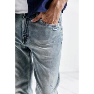 Image 2 - Simwood 2020 春の新ジーンズの男性が穴ヴィンテージアンクル丈デニムパンツ洗浄ファッションヒップホップズボン 190038
