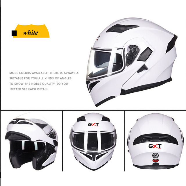 GXT Flip Up Motorcycle Helmet Double Lense Visors Full Face Motorbike Helmets Casco Racing Capacete With Bluetooth Moto Casque