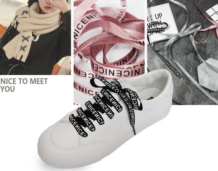 Mode 1 cm lettre impression Satin lacets noir blanc rose couleur 120 cm Bowknot chaussures de Sport chaussures blanches lacetsMode 1 cm lettre impression Satin lacets noir blanc rose couleur 120 cm Bowknot chaussures de Sport chaussures blanches lacets