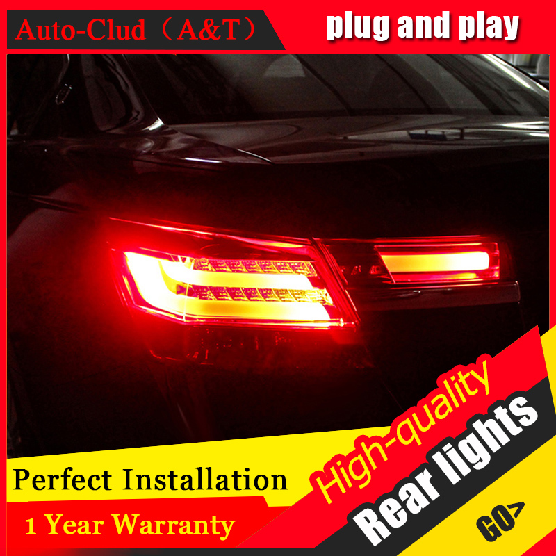 Car Styling LED Tail Lamp for Honda Accord 8 Tail Lights 2008-2012 for Accord Rear Light DRL+Turn Signal+Brake+Reverse LED light akd car styling led drl for accord 2012 2014 eye brow light led external lamp signal parking accessories