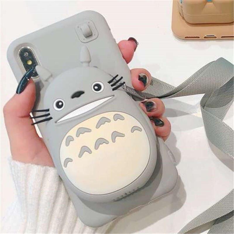 Totoro, Molang, Rilakkuma, Pikachu Small Pocket 3D iPhone Case