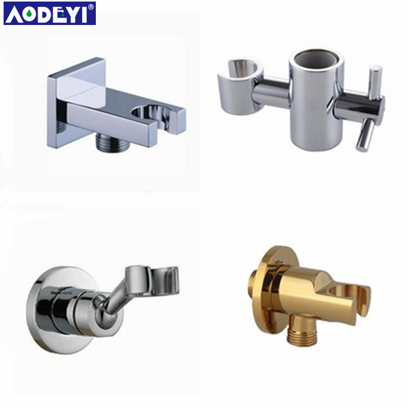 Bathroom Fixtures Fine Brass Handheld Shower Holder Support Rack With Hose Connector Wall Elbow Unit Spout Water Inlet Angle Valve