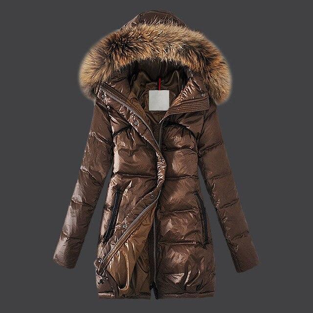 Manteau chaud marron femme