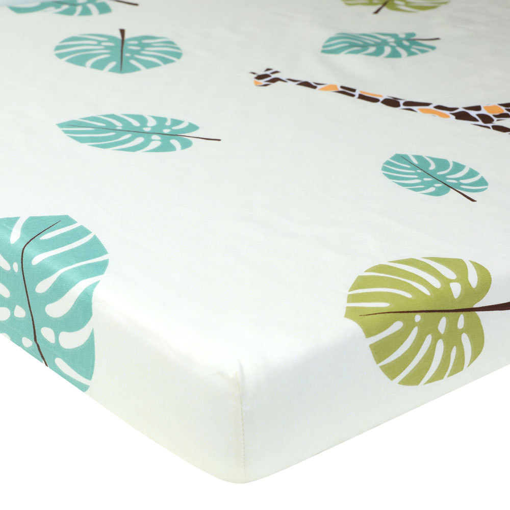 Pure Cotton Baby Crib 130X70 cm Fitted Sheet Infant Cot Bed Sheets Soft Breathable Newborn Bedding Soft Mattress Cover Protector