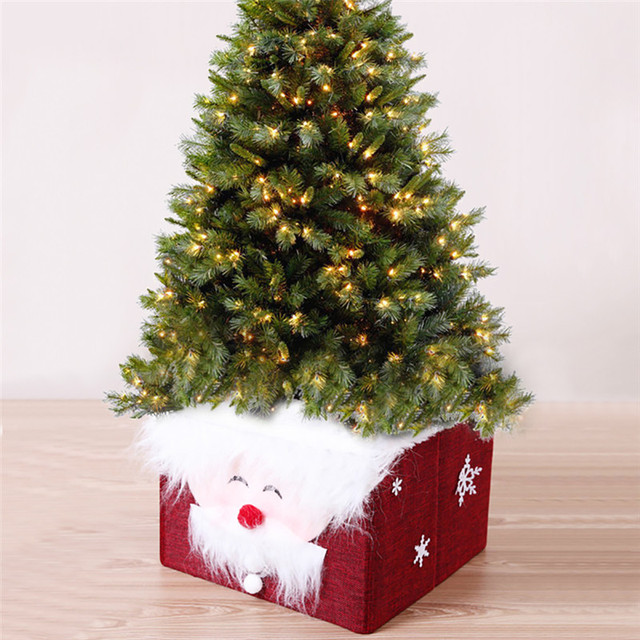 foldable santa claus xmas christmas tree skirt storage christmas gift box christmas decoration supplies hide tree