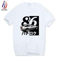 Hecoolba 2017 Men Print Drift Japanese Anime T Shirt O Neck Short Sleeves Summer Casual AE86