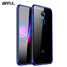 For Xiaomi Redmi Note 4 Case Cover Transparent Plating TPU Soft Slim Back Cover For Redmi Note4 4X Note4X Case Phone Coque(China)
