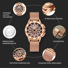 Women Luxury Rotating Dial Waterproof Analogue Watch