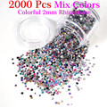 Gel Len 2000pcs Nail Decoration DIY Rhinestones Trim Strass Clear Iron On Glass Crystal Stones Nail Art Salon Stones