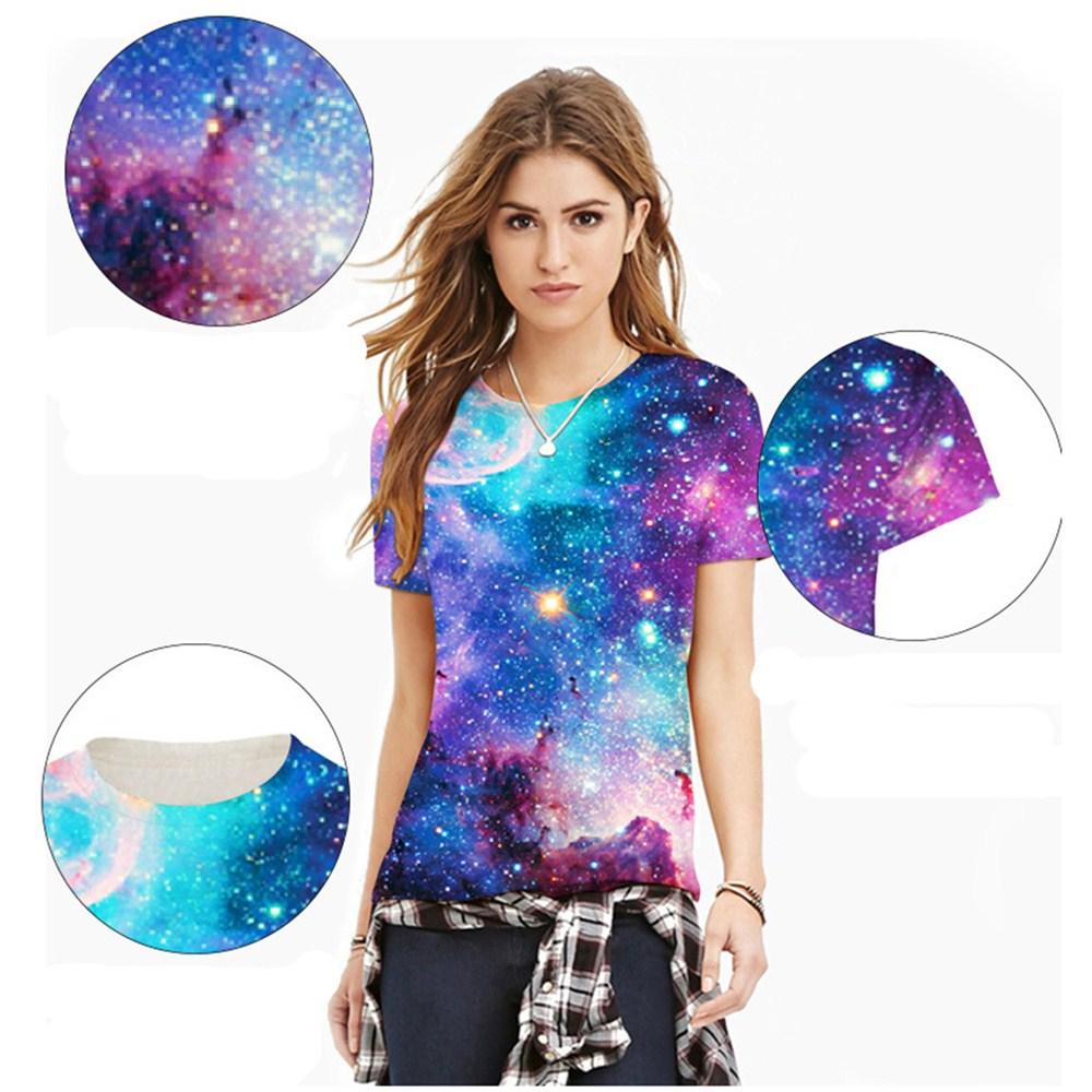 HTB1DU6hQXXXXXcsapXXq6xXFXXXL - T-shirt blue sky digital print 3D short-sleeved women's shirt