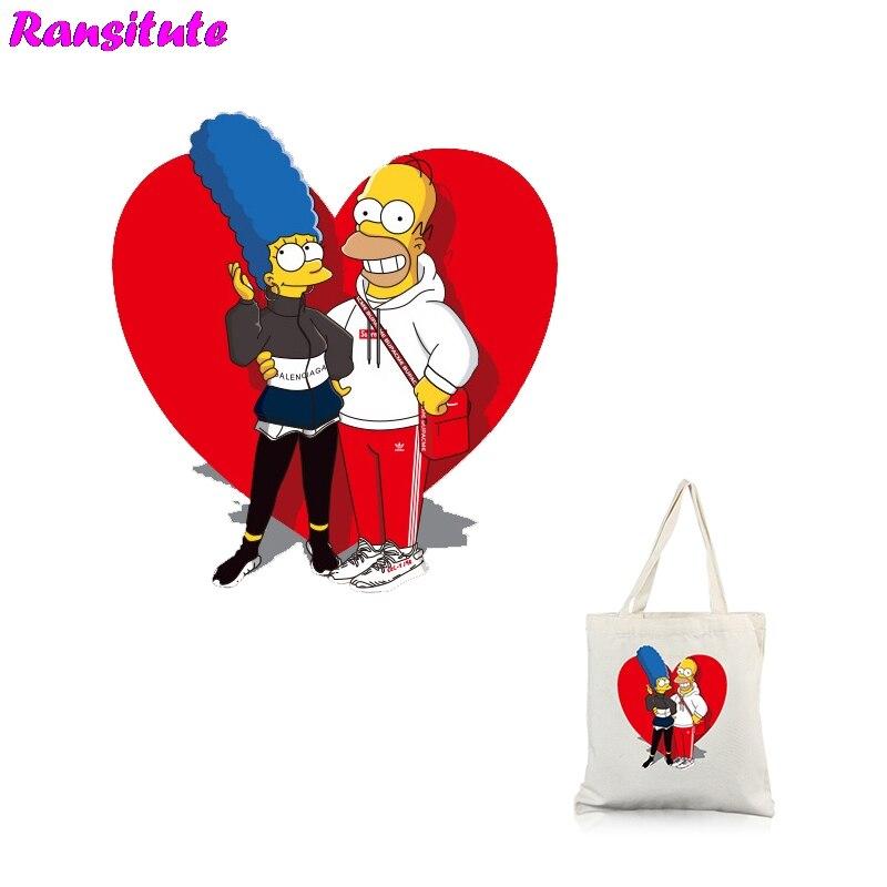 04ec43e13d Ransitute R317 Simpsons yıkanabilir ısı transfer baskı termal transfer T- shirt aplike sırt çantası yama ~ Best Seller June 2019