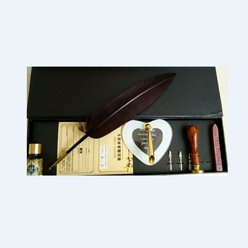 Nature Feather Dip Pen Set Feather Pen цена