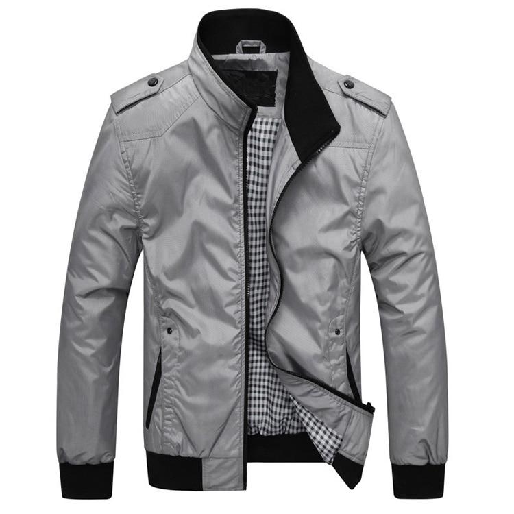 HTB1DU79bdfvK1RjSspoq6zfNpXav DIMUSI Mens Jackets Spring Autumn Casual Coats Solid Color Mens Sportswear Stand Collar Slim Jackets Male Bomber Jackets 4XL