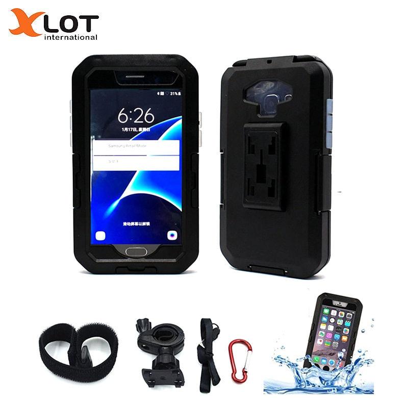 Bike Phone Holder Bicycle Motorcycle <font><b>Handlebar</b></font> Phone Mount Bracket GPS Navigation Support For Samsung S7 S6 Edge S5 S4 S3 Holder
