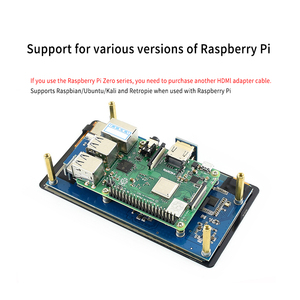 Image 4 - פטל Pi 4 LCD AMOLED 5.5 אינץ 1080P 5 אינץ HDMI קיבולי 1920*1080 מסך מגע מודול עבור פטל Pi 3B + 2B +